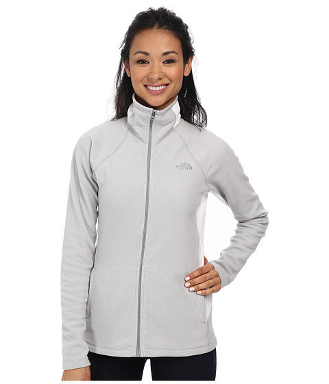 The North Face - Tech 100 Full Zip (High Rise Grey/TNF White) Women's Fleece