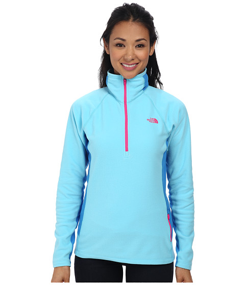 The North Face - Tech 100 1/2 Zip (Fortuna Blue/Clear Lake Blue) Women's Fleece