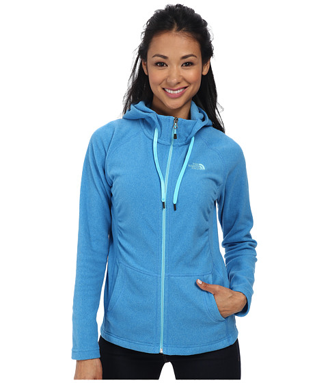 The North Face - Mezzaluna Hoodie (Clear Lake Blue Heather) Women's Sweatshirt