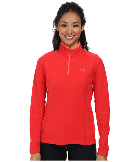 The North Face - Glacier 1/4 Zip (Tomato Red) Women