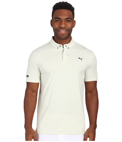 PUMA Golf - Lux Yarn Dye Stripe Polo (Aurora) Men's Short Sleeve Pullover