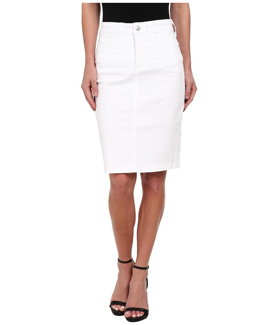 NYDJ - Dora Skirt Washed Twill (Optic White) Women's Skirt