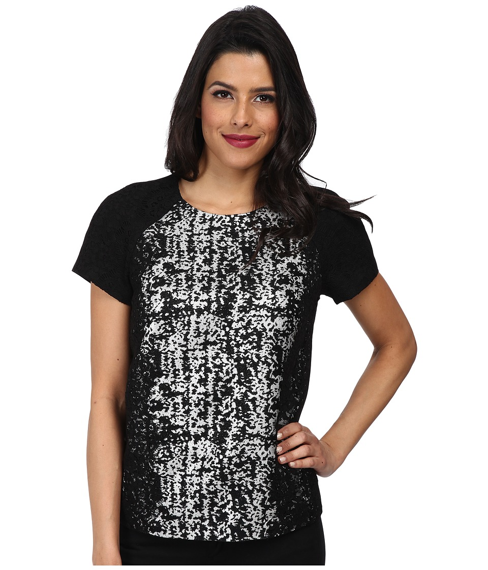 Adrianna Papell - S/S Tee Body Blouse (Black) Women