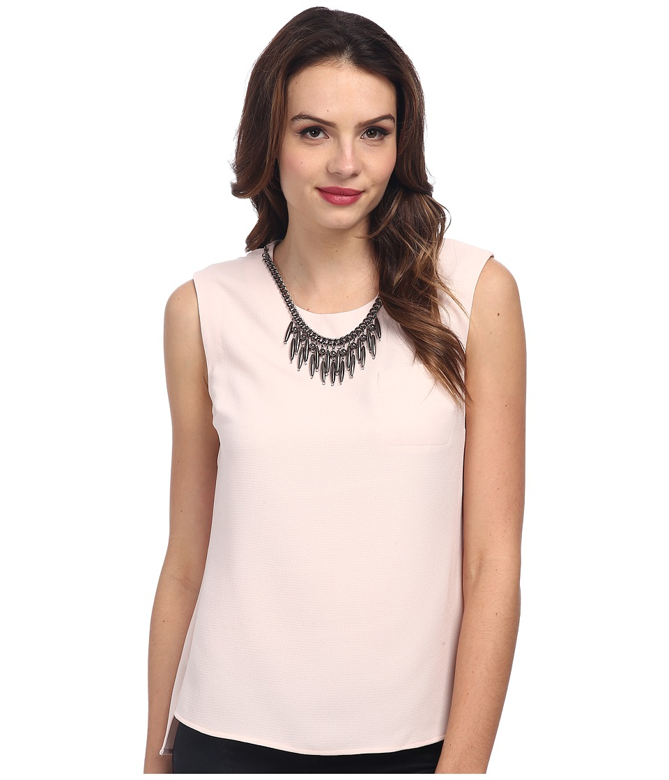 Adrianna Papell - Sleeveless Blouse w/ Embellishment (Blush) Women's Blouse