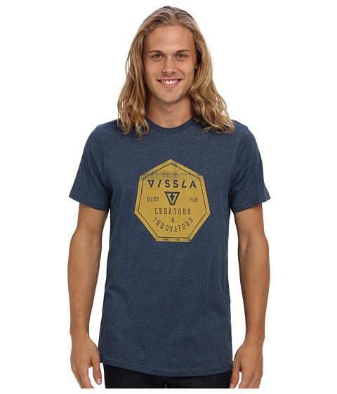 VISSLA - Hex Tee (Naval Heather) Men