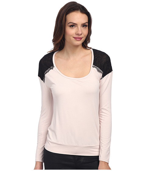 Adrianna Papell - L/S Scoop Neck (Blush) Women's Long Sleeve Pullover