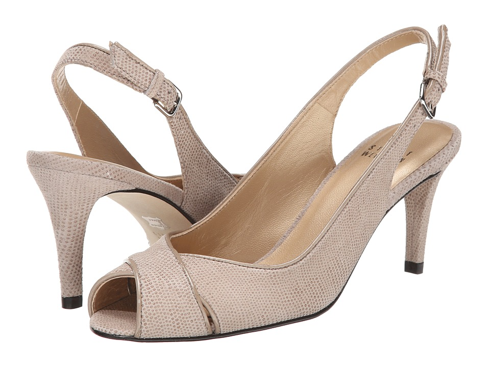 Stuart Weitzman - Crossword (Fawn Goose Bump Nappa) High Heels