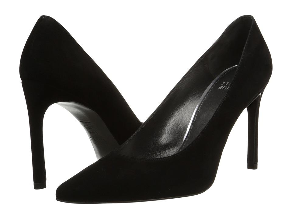 Stuart Weitzman - Heist (Black Suede) High Heels