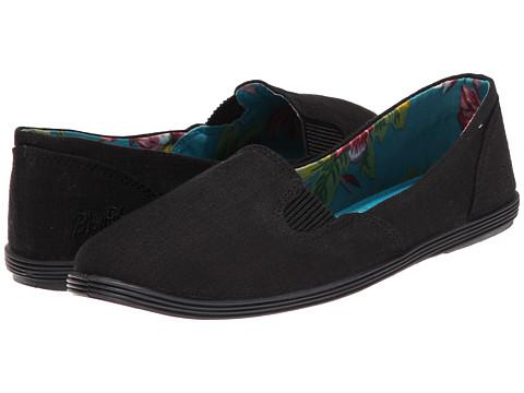 Blowfish - Gillie (Solid Black Cozumel Linen) Women's Slip on Shoes
