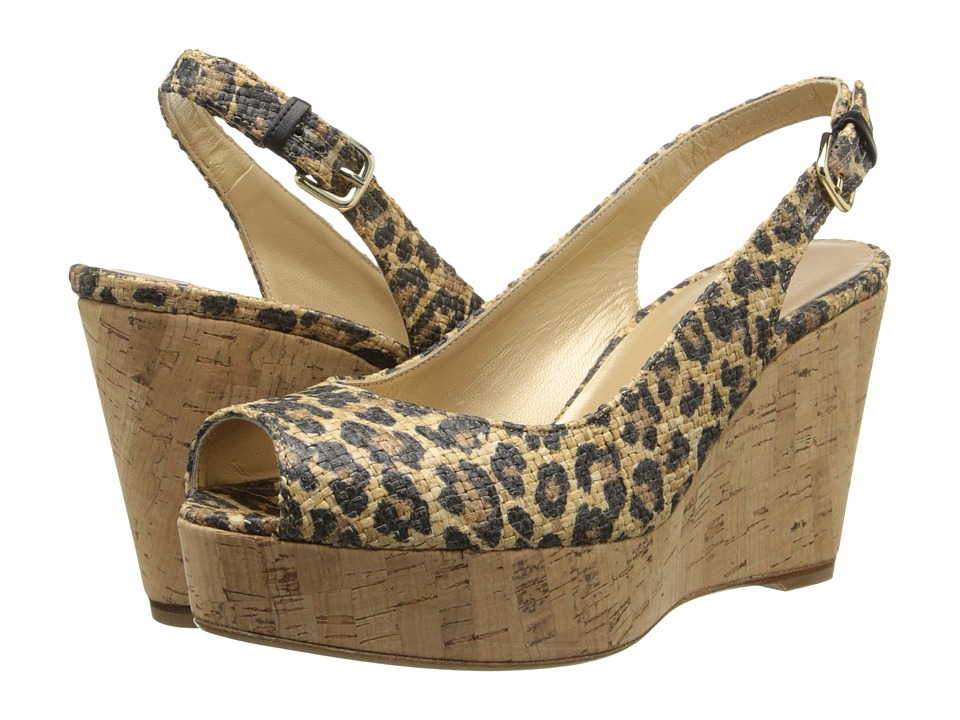 Stuart Weitzman - Jean (Caramel Leo Raffia) Women's Shoes