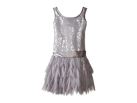 Biscotti - Deck The Halls Sleeveless Dress (Little Kids/Big Kids) (Silver) Girl's Dress