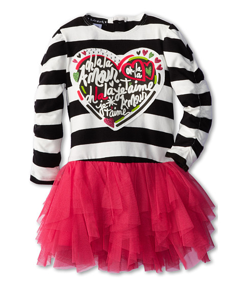 Kate Mack - Pop Couture Dress (Infant/Toddler) (Black/Pink) Girl