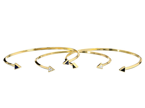 House of Harlow 1960 - Reflector Stack Cuffs Bracelet (Gold Tone/Lapis/Enamel/Howlite) Bracelet