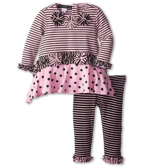 Biscotti - Stripe A Pose Tunic Legging (Infant/Toddler) (Pink) Girl