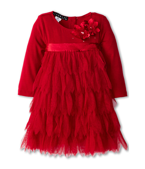 Biscotti - Deck The Halls Long Sleeve Dress (Infant/Toddler) (Red) Girl's Dress