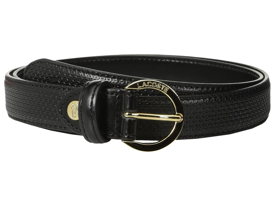 Lacoste - Premium Chantaco Belt (Black) Women's Belts