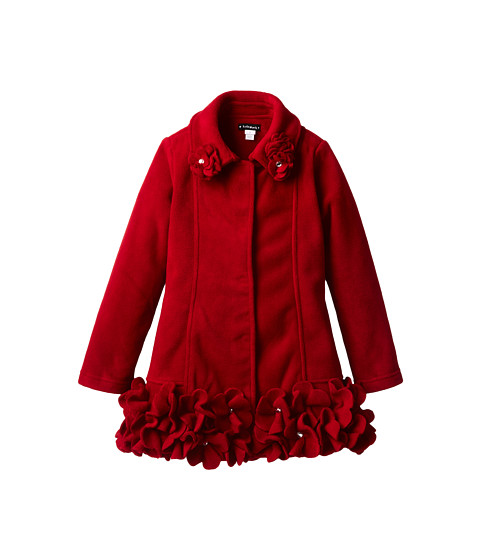 Kate Mack - Polar Perfection Coat Sol Flowers (Big Kids) (Red) Girl's Coat