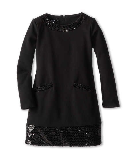 Biscotti - Glam It Up Long Sleeve Dress (Little Kids/Big Kids) (Black) Girl