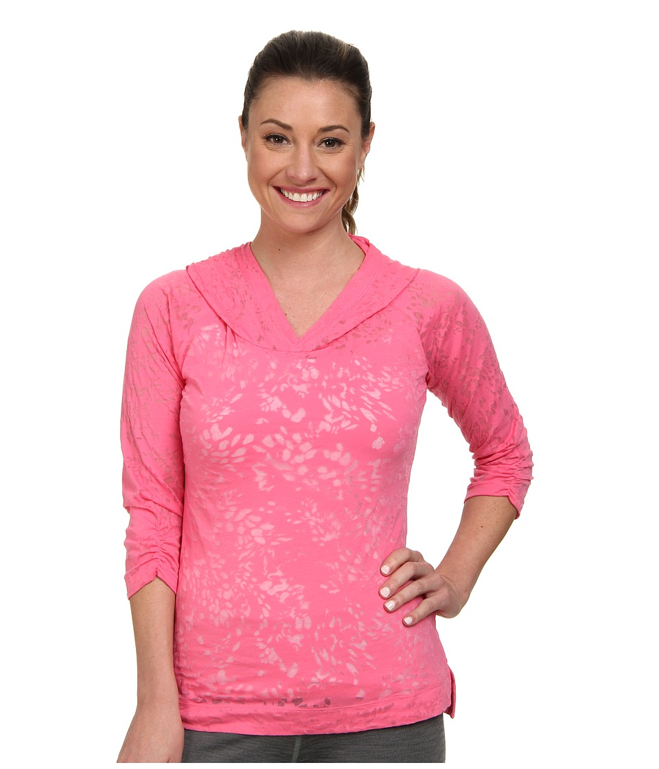 Columbia - See Through You Burnout Hoodie (Tropic Pink Floral) Women's Long Sleeve Pullover