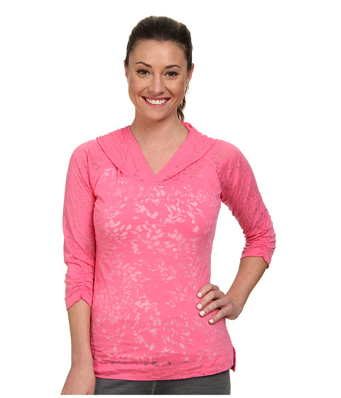 Columbia - See Through You Burnout Hoodie (Tropic Pink Floral) Women