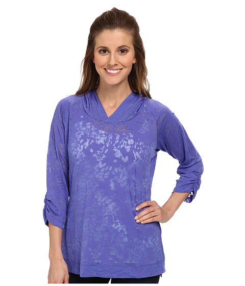 Columbia - See Through You Burnout Hoodie (Purple Lotus Floral) Women's Long Sleeve Pullover