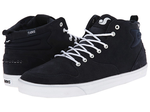 DVS Shoe Company - Elm (Navy Suede) Men's Skate Shoes