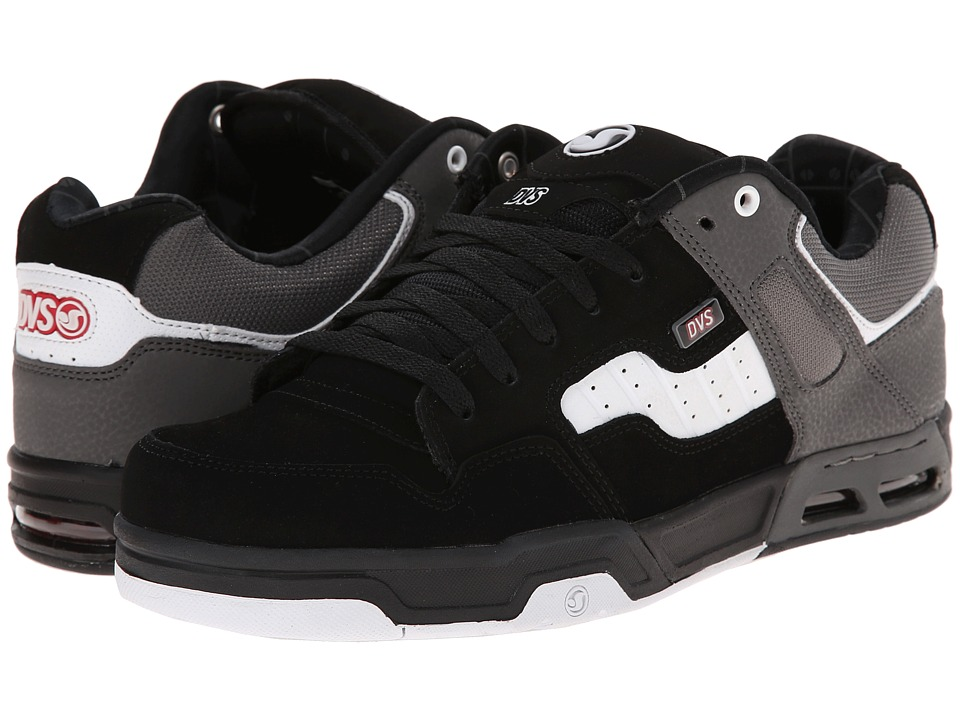DVS Shoe Company - Enduro Heir (Black/White Nubuck) Men's Skate Shoes