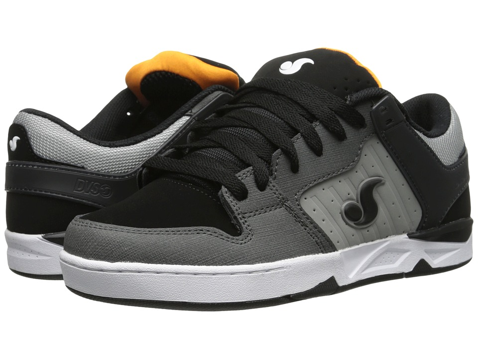 DVS Shoe Company - Argon (Black/Grey Dirt Nubuck) Men's Skate Shoes