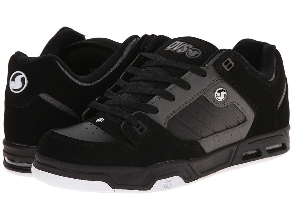 DVS Shoe Company - Militia Heir (Black/Grey Nubuck) Men's Skate Shoes
