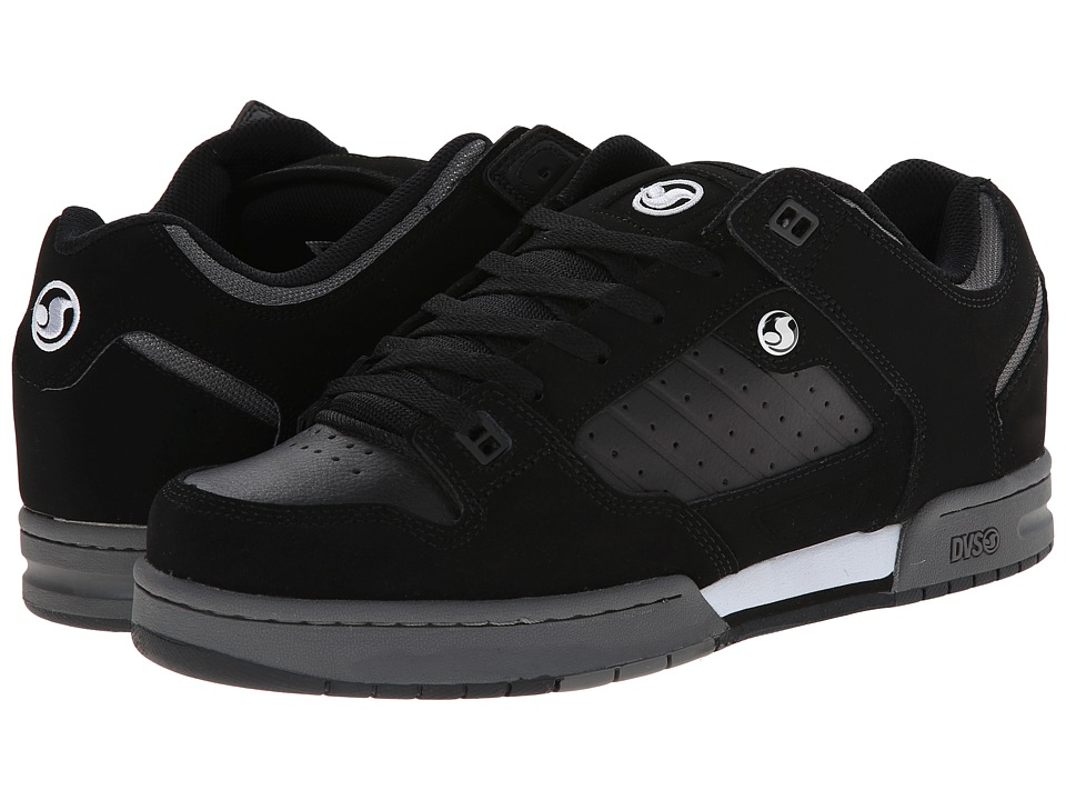 DVS Shoe Company - Militia (Black/White Nubuck) Men's Skate Shoes