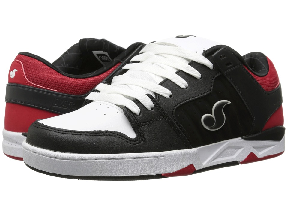 DVS Shoe Company - Argon (Black/Red Deegan Nubuck Leather) Men's Skate Shoes