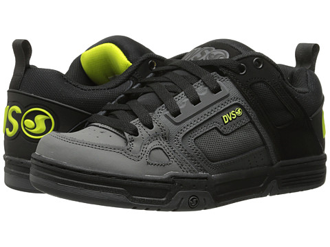DVS Shoe Company - Comanche (Grey/Black/Lime) Men's Skate Shoes