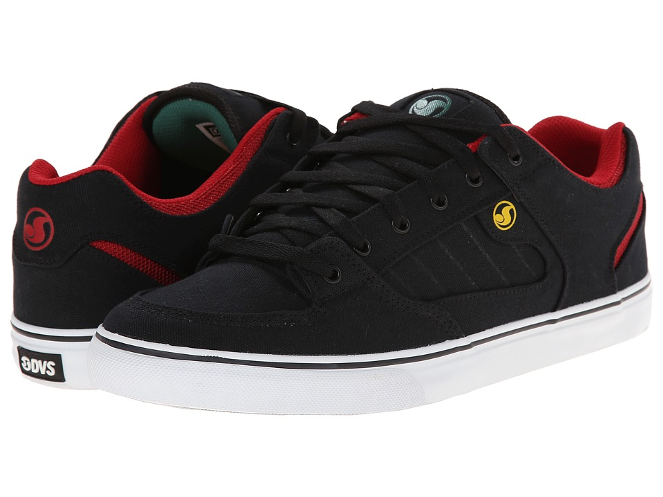 DVS Shoe Company - Militia CT (Black Rasta Canvas) Men's Skate Shoes