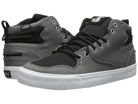 DVS Shoe Company - Elm (Grey/Black Canvas) Men's Skate Shoes