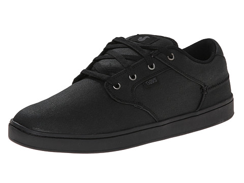 DVS Shoe Company - Quentin (Black Waxed Canvas) Men's Skate Shoes