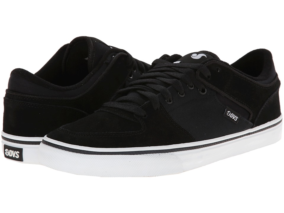 DVS Shoe Company - Torey Low (Black Suede) Men's Skate Shoes
