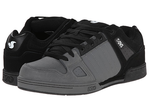 DVS Shoe Company - Celsius (Grey/Black Nubuck) Men's Skate Shoes