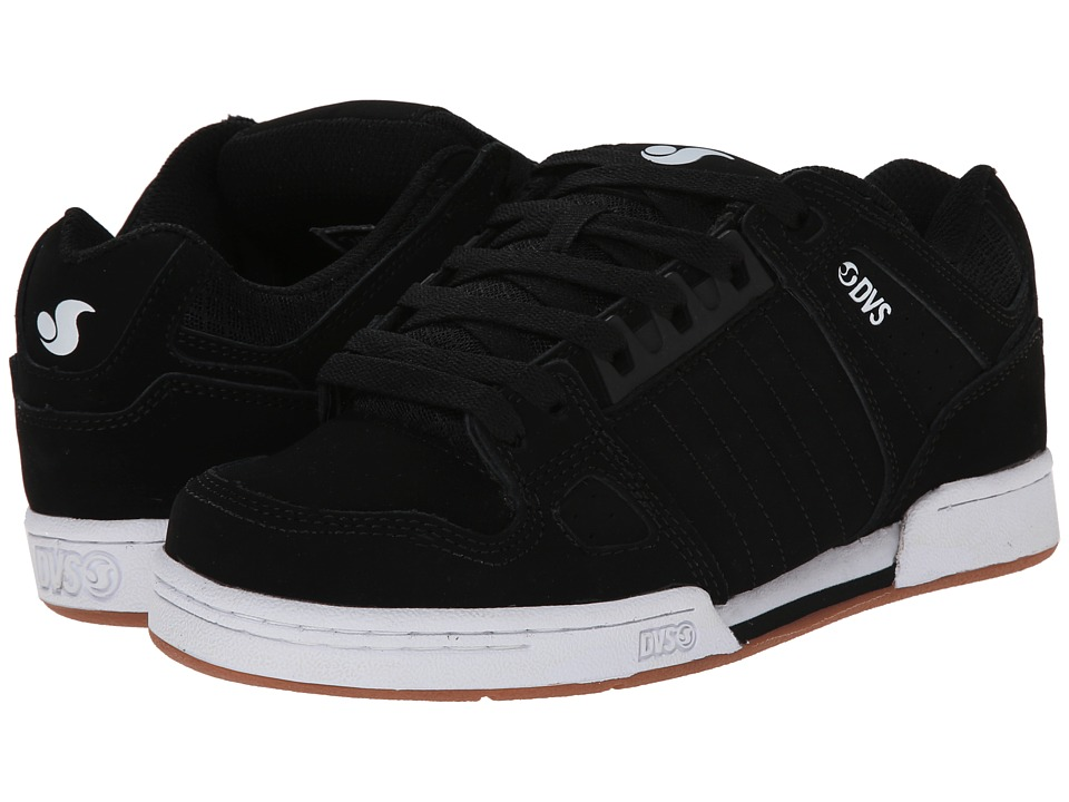 DVS Shoe Company - Celsius (Black Nubuck) Men's Skate Shoes