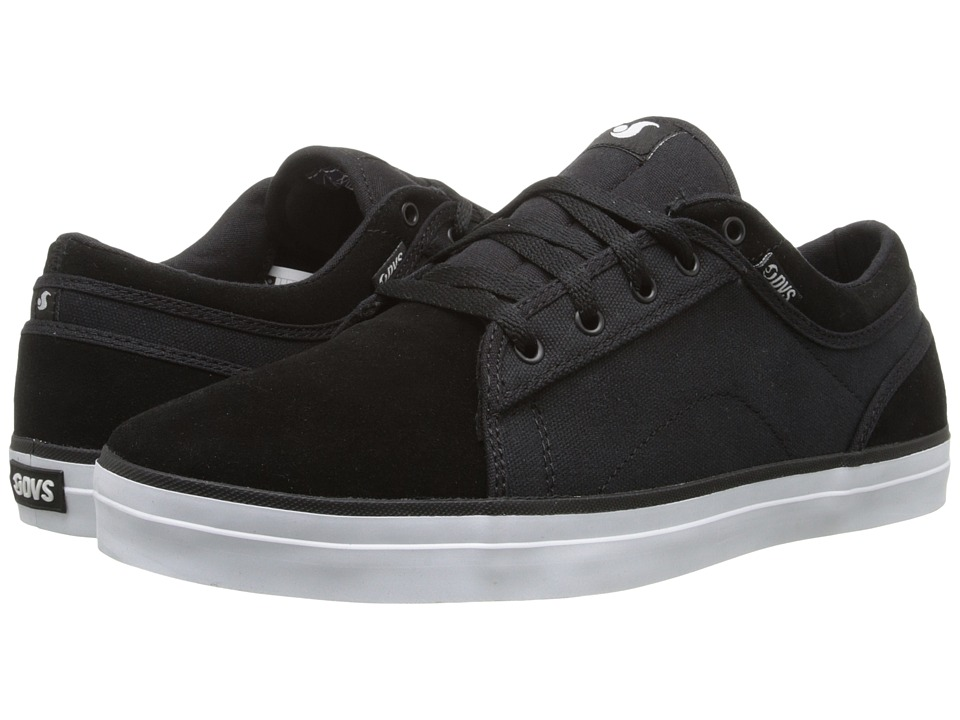 DVS Shoe Company - Aversa (Black Suede & Canvas (Marty Murawski)) Men's Skate Shoes