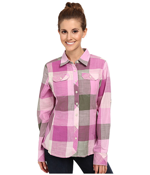 Columbia - Camp Henry L/S Shirt (Foxglove Check) Women's Long Sleeve Button Up