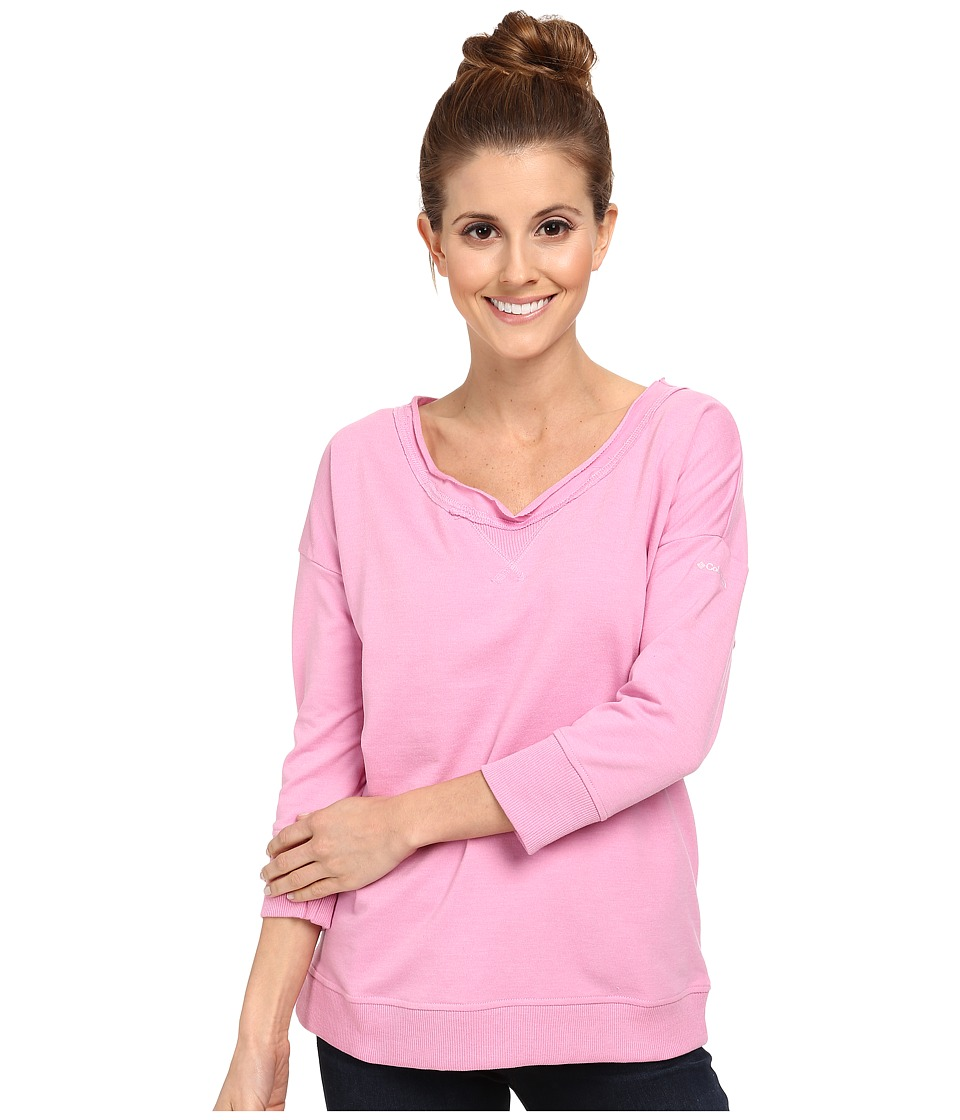 Columbia - My Terry-Tory 3/4 Sleeve Crew (Orchid) Women's T Shirt