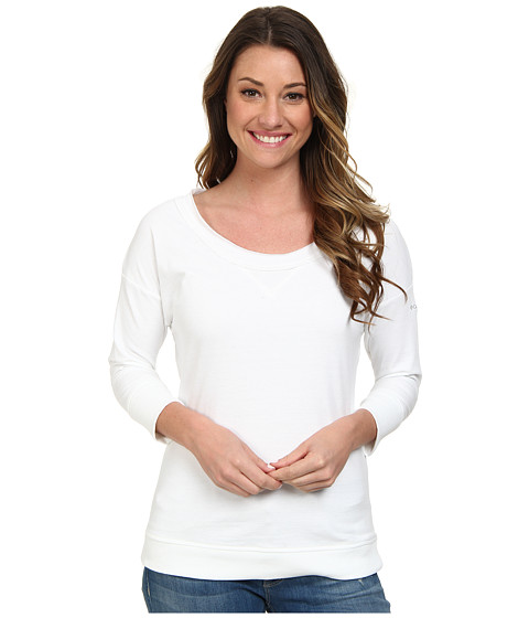 Columbia - My Terry-Tory 3/4 Sleeve Crew (White) Women's T Shirt