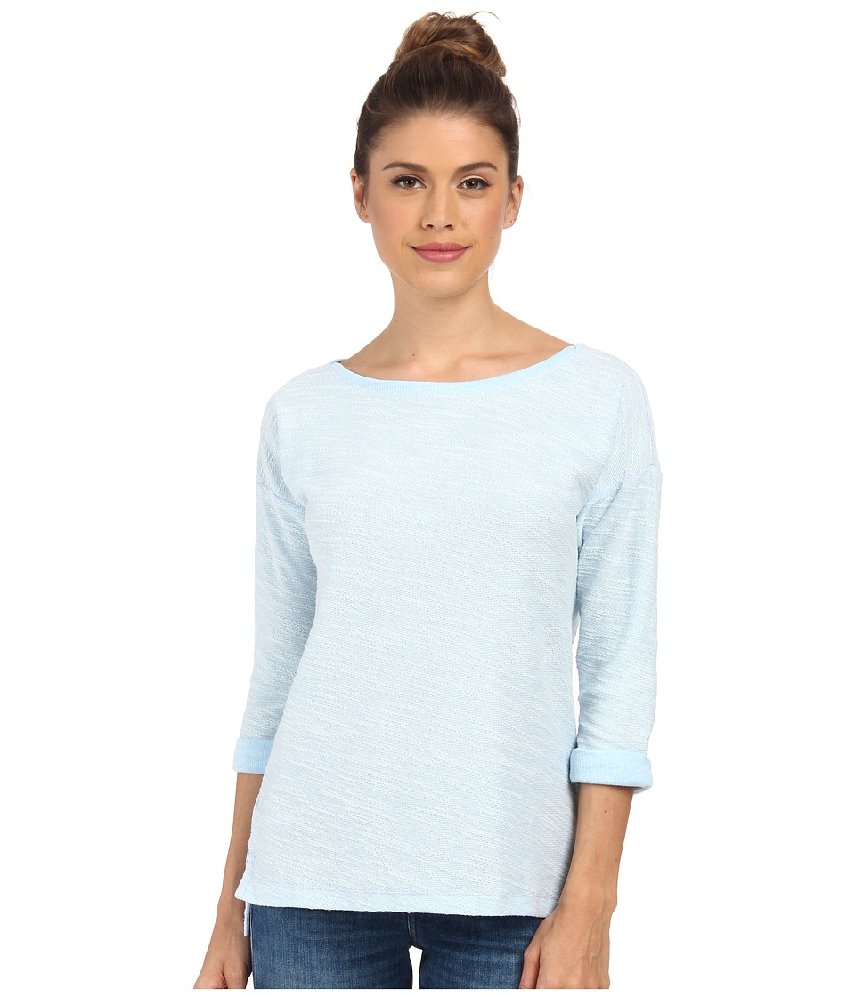 Columbia - Coastal Escape 3/4 Sleeve Shirt (Air Heather/Daydream) Women's Long Sleeve Pullover