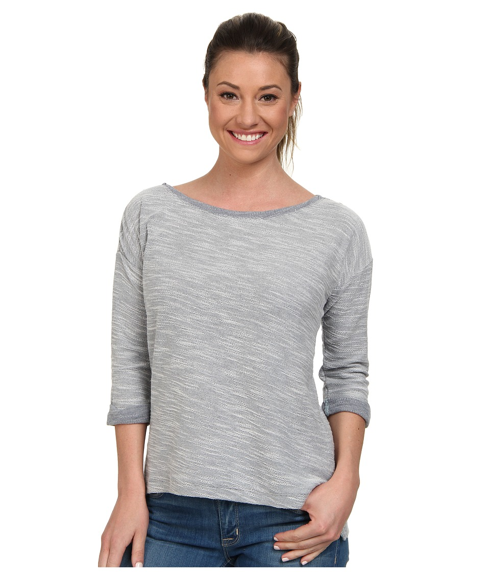 Columbia - Coastal Escape 3/4 Sleeve Shirt (India Ink Heather/Candy Mint) Women's Long Sleeve Pullover