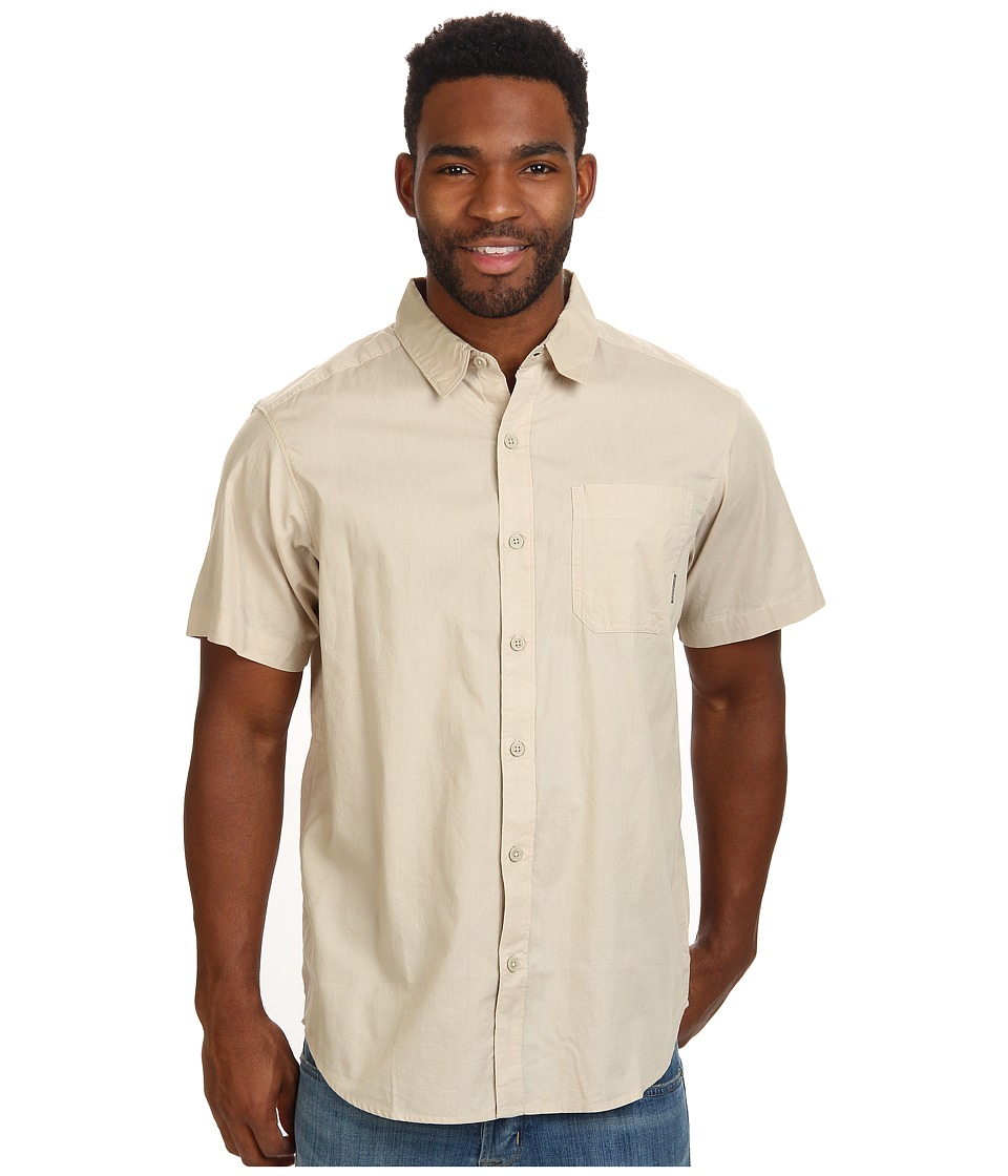 Columbia - Thompson Hill Solid S/S Shirt (Fossil) Men's Short Sleeve Button Up