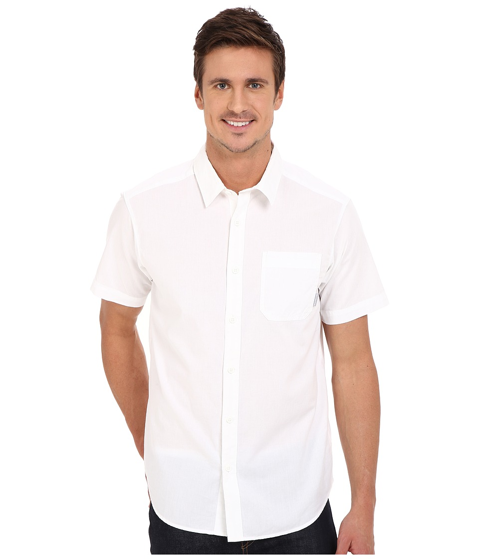 Columbia - Thompson Hill Solid S/S Shirt (White) Men's Short Sleeve Button Up