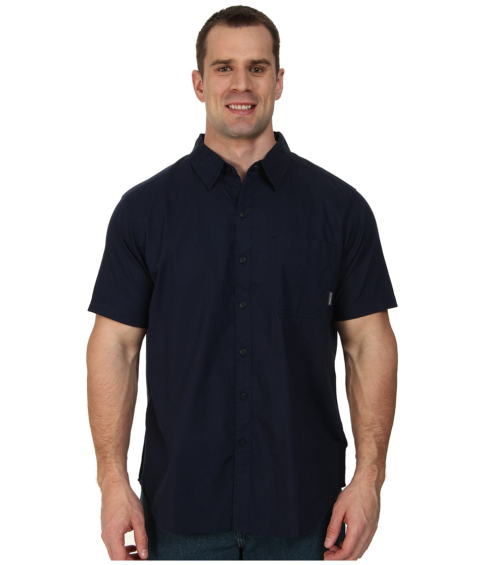 Columbia - Big Tall Thompson Hill Solid S/S Shirt (Collegiate Navy) Men's Short Sleeve Button Up