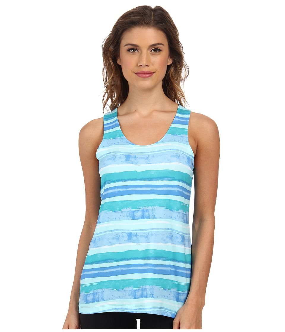 Columbia - Siren Splash Print Tank Top (Geyser Watercolor Stripe) Women's Sleeveless