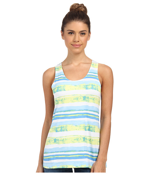 Columbia - Siren Splash Print Tank Top (Harbor Blue Watercolor Stripe) Women's Sleeveless