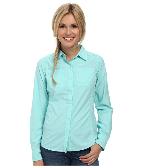 The North Face - Long Sleeve Cool Horizon Woven Shirt (Bonnie Blue) Women's Long Sleeve Button Up